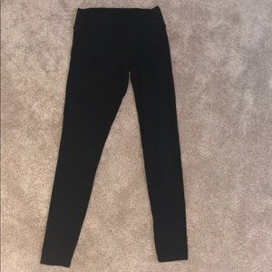 Pink extra small black leggings